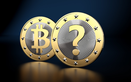 Bitcoin - What is the next BIG thing in Crypto Currencies? - 3D rendering