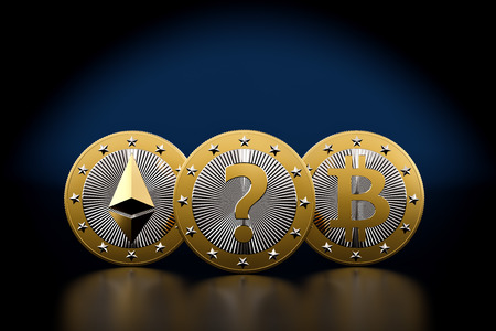 Bitcoin and Ethereum - What is the next BIG thing in Crypto Currencies - 3D Rendering