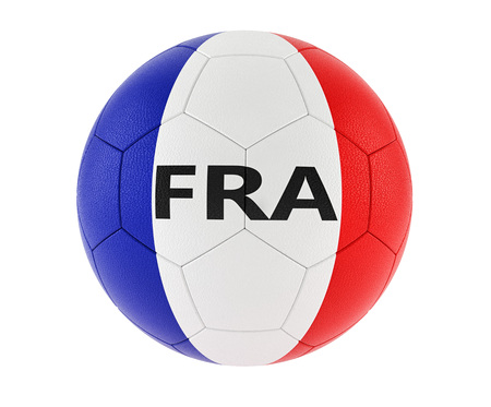 Soccer ball in french national colors - 3D rendering Foto de archivo - 98557712