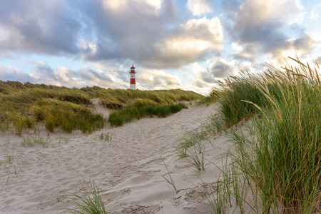 Lighthouse List East on the island Sylt, Germany