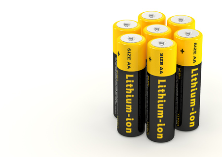 Lithium-ion Batteries - 3D Rendering Stok Fotoğraf