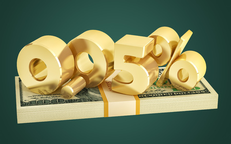 0.05% - savings - discount - interest rate - 3D Rendering 写真素材