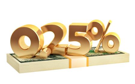 0.25% - savings - discount - interest rate - 3D Rendering