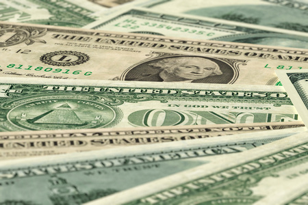 Dollars banknotes background - 3D rendering