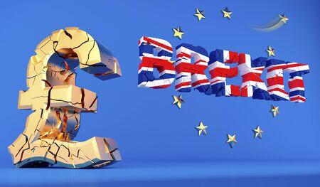 BREXIT - UK leaving the european union - 3D rendering