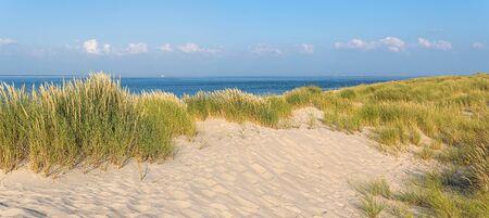 Ocean and Marram Grass on the island Sylt, Germany