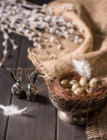 Easter bunnies and quail eggs