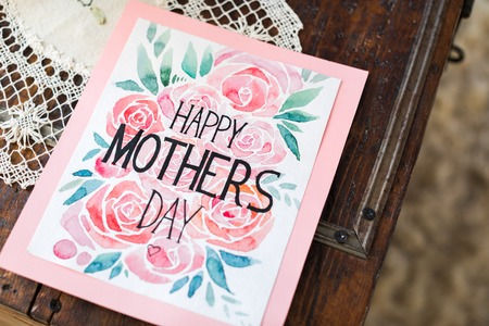 Happy Mothers Day card Фото со стока - 72261465