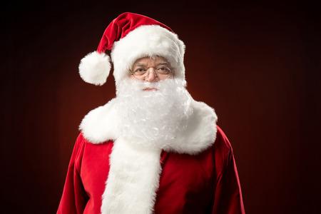 Santa Claus looking at camera Stock Photo