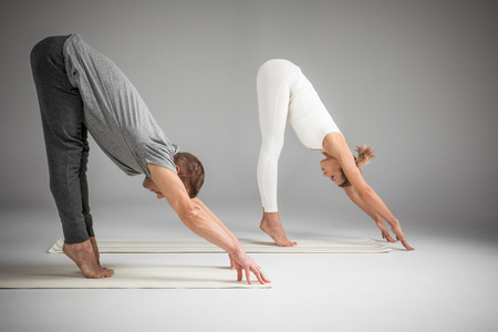 kundalini: Couple practicing yoga