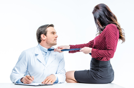 Young woman and doctor Stock Photo