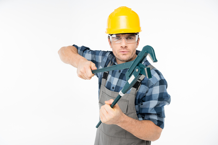 laboring: Professional construction worker Stock Photo