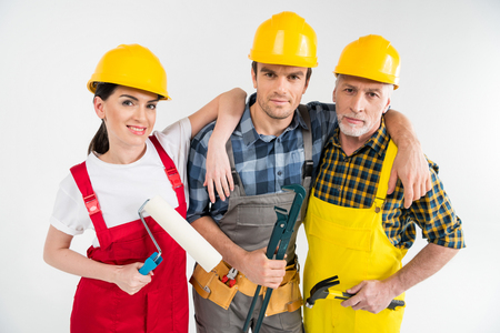 laboring: Professional construction workers