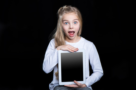 Girl with digital tablet