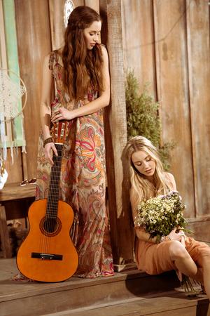 Young hippie women