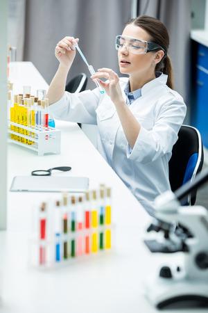 Female scientist in lab Stock Photo