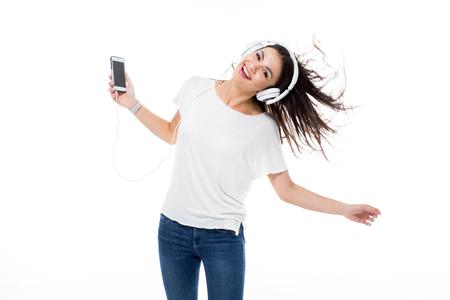 Woman listening to music Stock Photo - 75454707