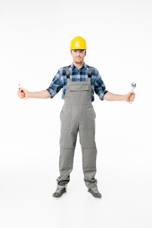 Professional construction worker Stock Photo