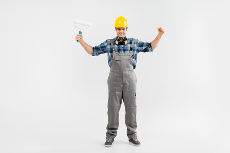 architect tools: Professional construction worker Stock Photo