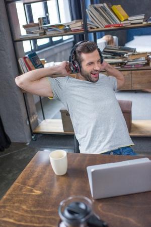 Man using laptop Stock Photo - 75682484