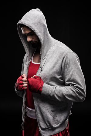 Confident box fighter Stock Photo
