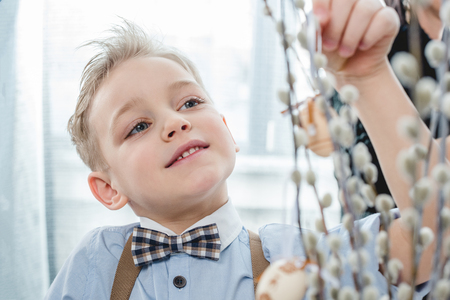 Boy with easter decoration