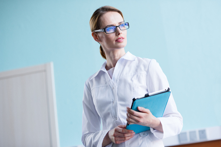 Doctor with digital tablet Stock Photo