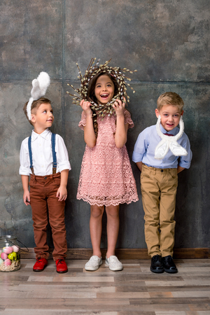 full willow: Kids in bunny ears