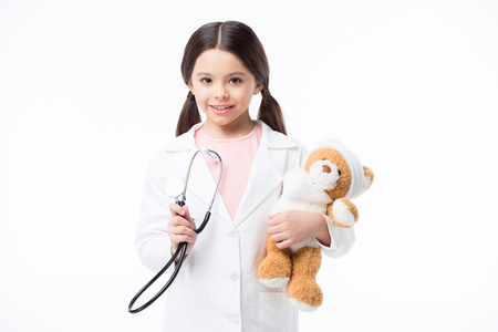 pediatrist: Little girl playing doctor