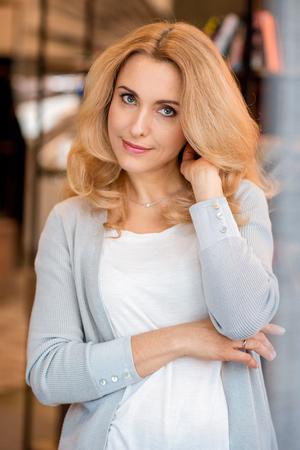 Charming blonde mature 1