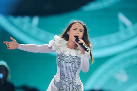 Lindita uit Albanië op het Eurovisie Songfestival
