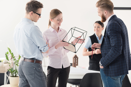 bearded wire: Young businesspeople working together