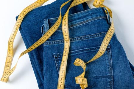 Jeans and measuring tape 版權商用圖片