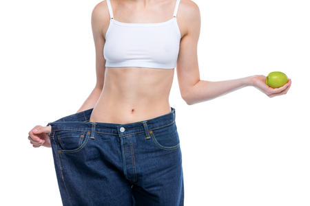 Young slim woman