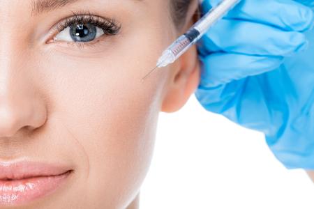 female botox injection