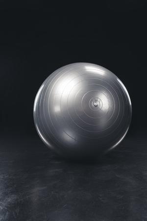 Shiny gray fitness ball
