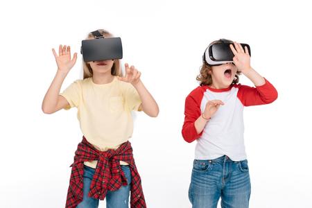 仮想現実のヘッドセットでの友人