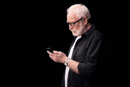 senior man using smartphone Reklamní fotografie