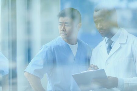 doctors discussing work, doctor conference concept