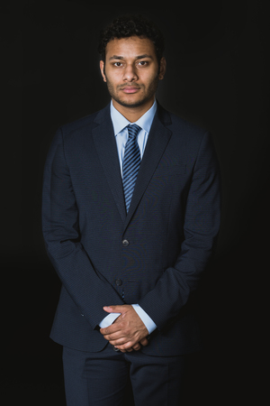 young serious african american businessman looking at camera Banco de Imagens