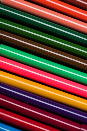 kleurrijke viltstiften set textuur