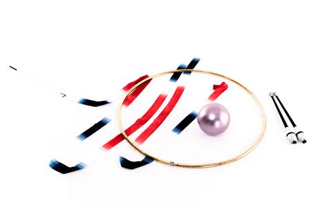 rhythmic gymnastics apparatus mockup isolated on white Imagens