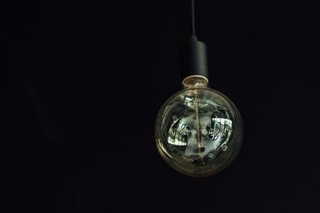 Vintage hanging Edison light bulb
