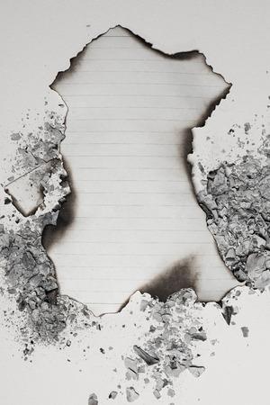 焼けた空紙シート