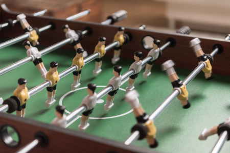 Close-up view of table football 版權商用圖片