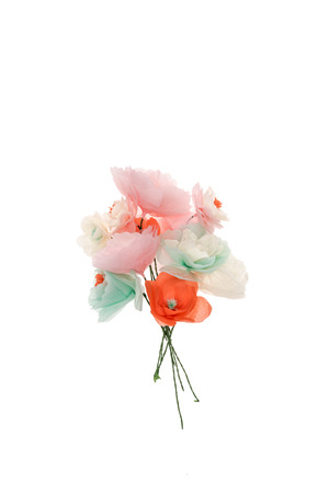 Bouquet of beautiful decorative handmade flowers Stock fotó - 84076396