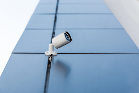 security camera on office building, security system concept
