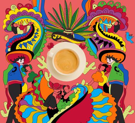 다채로운 멕시코 테마로 커피