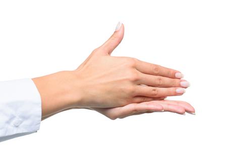 人のジェスチャーのトリミング ビュー手話