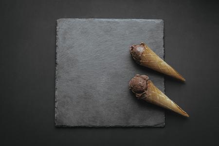 수제 초콜릿 아이스크림 스톡 콘텐츠